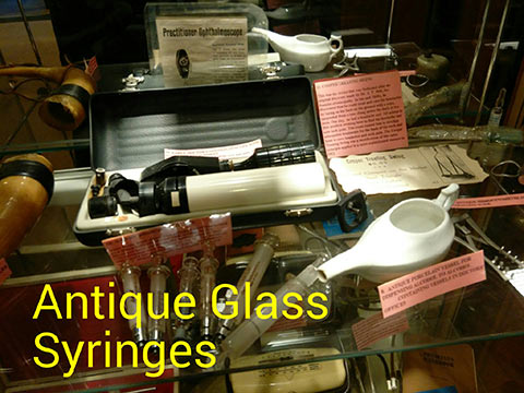 Antique Glass Syringes