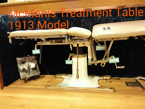 McManis Treatment Table 1913 Model